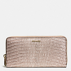 MADISON ACCORDION ZIP WALLET IN PYTHON EMBOSSED LEATHER - LIGHT GOLD/FAWN - COACH F51149