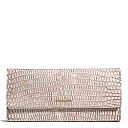 COACH MADISON PYTHON EMBOSSED SOFT WALLET - ONE COLOR - F51151