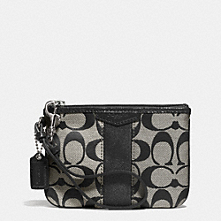 SIGNATURE STRIPE SMALL WRISTLET - f51158 - SILVER/BLACK/WHITE/BLACK