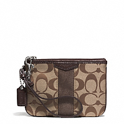 COACH SIGNATURE STRIPE SMALL WRISTLET - ONE COLOR - F51158
