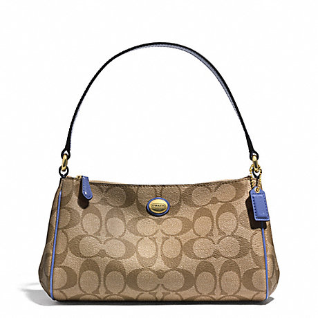COACH PEYTON SIGNATURE TOP HANDLE POUCH -  - f51175