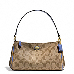COACH PEYTON SIGNATURE TOP HANDLE POUCH - ONE COLOR - F51175