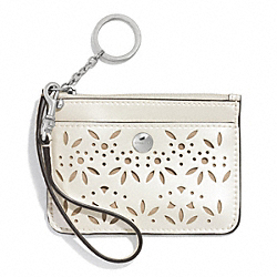 COACH METRO EYELET LEATHER ID SKINNY - ONE COLOR - F51190