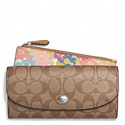 COACH PEYTON FLORAL SLIM ENVELOPE WALLET WITH POUCH - ONE COLOR - F51206