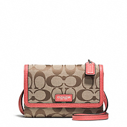 COACH AVERY SIGNATURE LEATHER PHONE CROSSBODY - ONE COLOR - F51214