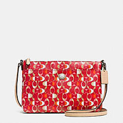 PEYTON DREAM C BRINN EAST/WEST SWINGPACK - SILVER/VERMILLION MULIGHTICOLOR - COACH F51216