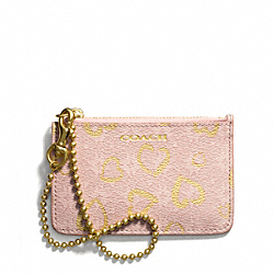 COACH WAVERLY HEART PRINT COATED CANVAS ID SKINNY - LIGHT GOLD/LIGHT GOLDGHT PINK - F51235
