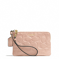 BLEECKER LOGO EMBOSSED SMALL WRISTLET - f51244 - GOLD/PEACH ROSE