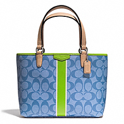 COACH SIGNATURE STRIPE TOP HANDLE TOTE - ONE COLOR - F51267