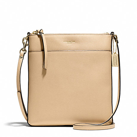 COACH NORTH/SOUTH SWINGPACK IN SAFFIANO LEATHER -  LIGHT GOLD/TAN - f51313