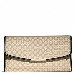 COACH MADISON OP ART NEEDLEPOINT CHECKBOOK WALLET - ONE COLOR - F51326
