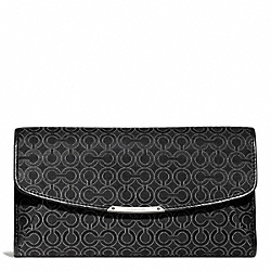 COACH MADISON OP ART PEARLESCENT CHECKBOOK WALLET - ONE COLOR - F51327
