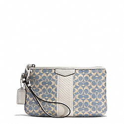 COACH SIGNATURE STRIPE JACQUARD MEDIUM WRISTLET - ONE COLOR - F51347
