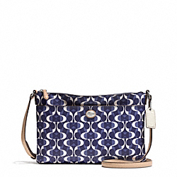 PEYTON DREAM C EAST/WEST SWINGPACK - SILVER/NAVY/TAN - COACH F51364