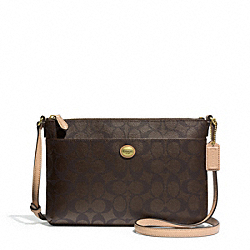 PEYTON EAST/WEST SWINGPACK IN SIGNATURE FABRIC COACH F51366