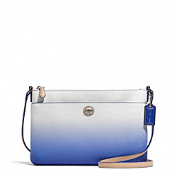 PEYTON OMBRE BRINN EAST/WEST SWINGPACK - SILVER/PORCELAIN BLUE - COACH F51381