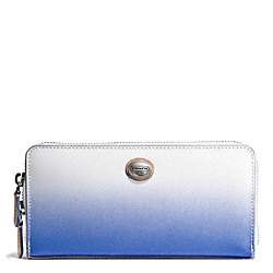 COACH PEYTON OMBRE ACCORDION ZIP WALLET - SILVER/PORCELAIN BLUE - F51382