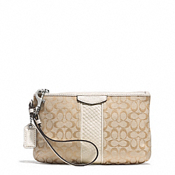 COACH SIGNATURE STRIPE SNAKE MEDIUM WRISTLET - ONE COLOR - F51388