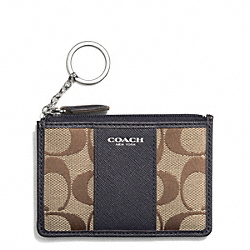 SIGNATURE MINI SKINNY - SILVER/KHAKI/ULTRA NAVY - COACH F51411