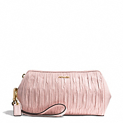 COACH MADISON WASHED GATHERED LEATHER LARGE WRISTLET - LIGHT GOLD/NEUTRAL PINK - F51443