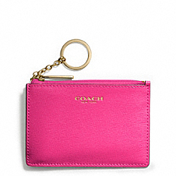 COACH SAFFIANO LEATHER MINI SKINNY - LIGHT GOLD/PINK RUBY - F51452