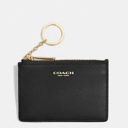 COACH SAFFIANO LEATHER MINI SKINNY - LIGHT GOLD/BLACK - F51452