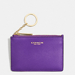 SAFFIANO LEATHER MINI SKINNY - LIGHT GOLD/PURPLE IRIS - COACH F51452