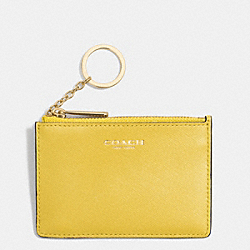 SAFFIANO LEATHER MINI SKINNY - LIGHT GOLD/SAFFRON - COACH F51452