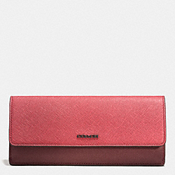 COACH SOFT WALLET IN COLORBLOCK MIXED LEATHER - ARD1H - F51475