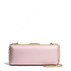 COACH SAFFIANO LEATHER MINIAUDIERE - LIGHT GOLD/NEUTRAL PINK - F51526
