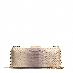 COACH MADISON PYTHON EMBOSSED PINNACLE MINAUDIERE - LIGHT GOLD/NEUTRAL PINK - F51550