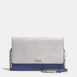 COLORBLOCK MIXED LEATHER CROSSTOWN BAG - f51571 - SVCWN