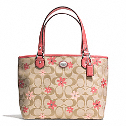 COACH DAISY SIGNATURE LEATHER TOP HANDLE TOTE - ONE COLOR - F51598