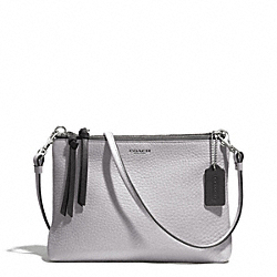 COACH BLEECKER EDGEPAINT TRIPLE ZIP CROSSBODY - SILVER/SOAPSTONE/CHARCOAL - F51636