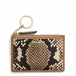 COACH MADISON MINI SKINNY IN PYTHON PRINT FABRIC - LIGHT GOLD/NATURAL - F51658
