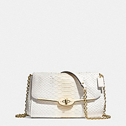 COACH MADISON PINNACLE CHAIN CROSSBODY IN PYTHON EMBOSSED LEATHER - LIGHT GOLD/WHITE IVORY - F51662