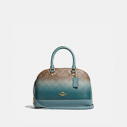 MINI SIERRA SATCHEL IN OMBRE SIGNATURE CANVAS - KHAKI/GREEN MULTI/IMITATION GOLD - COACH F51664