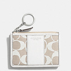 SIGNATURE MINI SKINNY - SILVER/IVORY NEW KHAKI/WHITE - COACH F51666