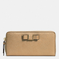 DARCY BOW ACCORDION ZIP WALLET - f51668 - IM/GOLD