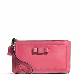 DARCY BOW LARGE WRISTLET - f51669 - SILVER/STRAWBERRY