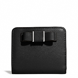 DARCY BOW SMALL WALLET - f51671 - SILVER/BLACK