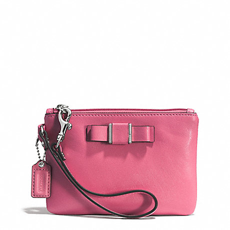 COACH DARCY BOW SMALL WRISTLET - SILVER/STRAWBERRY - f51672