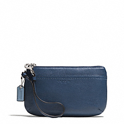 PARK LEATHER MEDIUM WRISTLET - f51683 - SILVER/DENIM