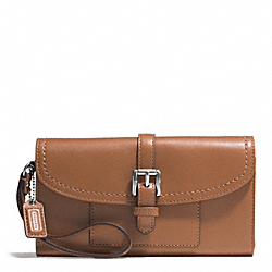 CHARLIE LEATHER CALLIE HYBRID WALLET - f51688 -  SILVER/SADDLE