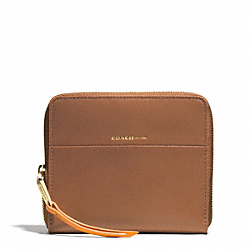 EDGEPAINT MEDIUM CONTINENTAL ZIP AROUND - GOLD/CAMEL/BRIGHT MANDARIN - COACH F51715