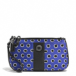 COACH MINI DOT STRIPE LARGE WRISTLET - ONE COLOR - F51722