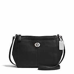 PARK LEATHER SWINGPACK - f51743 - SILVER/BLACK