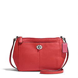 COACH PARK LEATHER SWINGPACK - SILVER/VERMILLION - F51743