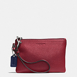 PARK LEATHER SMALL WRISTLET - SILVER/CRIMSON - COACH F51763