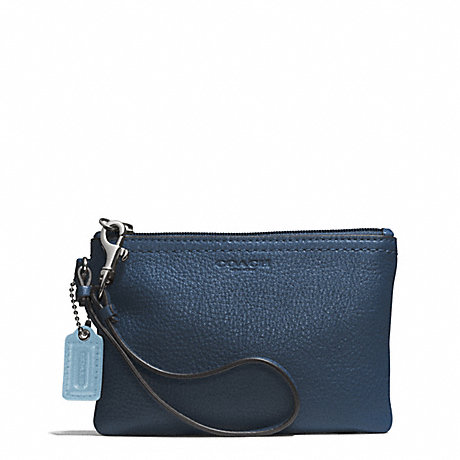 COACH PARK LEATHER SMALL WRISTLET - SILVER/DENIM - f51763